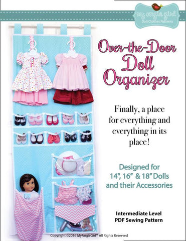 "Over-the-Door Doll Organizer 18"" Doll Accessories"