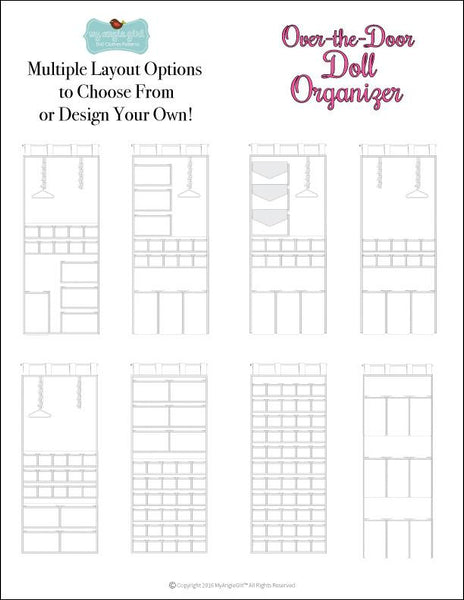 My Angie Girl Over-the-Door Doll Organizer Doll Clothes