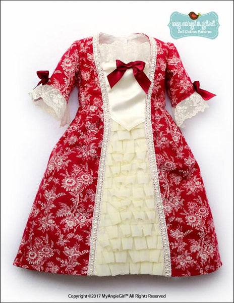 My Angie Girl 18th Century Colonial Gown Doll Clothes