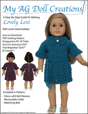 "Lovely Lexi 18"" Doll Knitting Pattern"