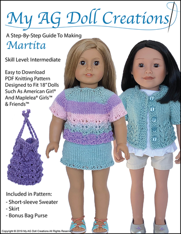 "Martita 18"" Doll Knitting Pattern"