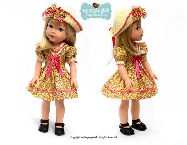 Angie Girl Sailorette Doll Clothes Pattern Inch