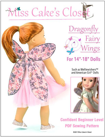 "Dragonfly Fairy Wings 14- 18"" Doll Accessory Pattern"
