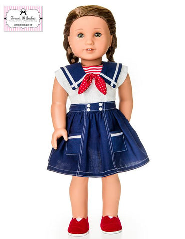 "Forever 18 Inches 18 Inch Modern Skirts With Pockets Bundle 18"" Doll Clothes Pixie Faire"
