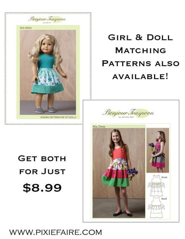 BT Mia Dress Girl/Doll Bundle PDF Patterns