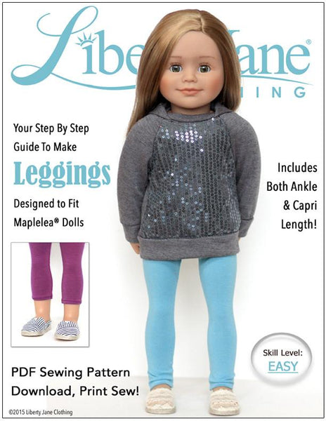 Knitting Patterns For Maplelea Dolls : Liberty Jane Leggings Doll Clothes Pattern for Maplelea ...