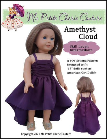 "Amethyst Cloud 18"" Doll Clothes Pattern"
