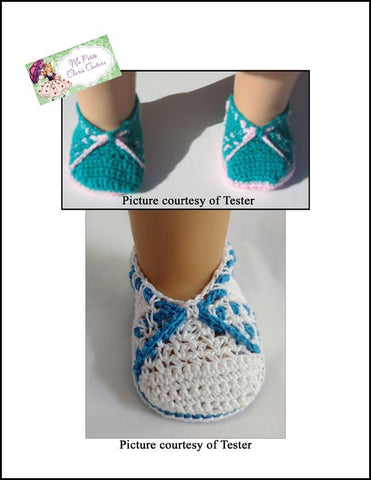 "Hadassah 18"" Doll Shoe Crochet Pattern"