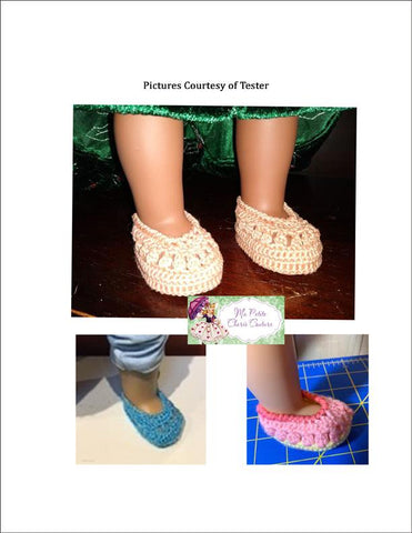 "Ophelia Shoes 18"" Doll Crochet Pattern"
