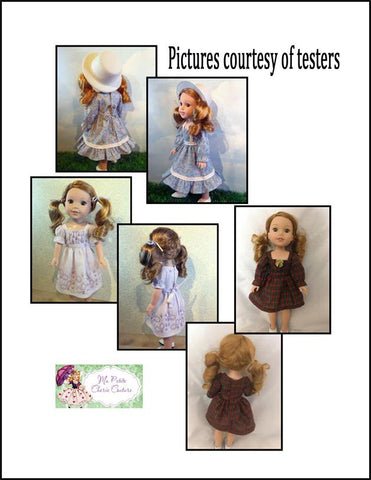"Yvonne 14-15"" Doll Clothes Pattern"