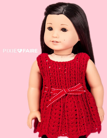 "Fandome Dress 18"" Doll Crochet Pattern"
