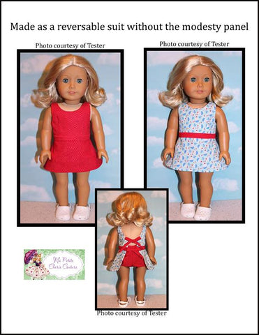 "Moressa Swimsuit 18"" Doll Clothes Pattern"