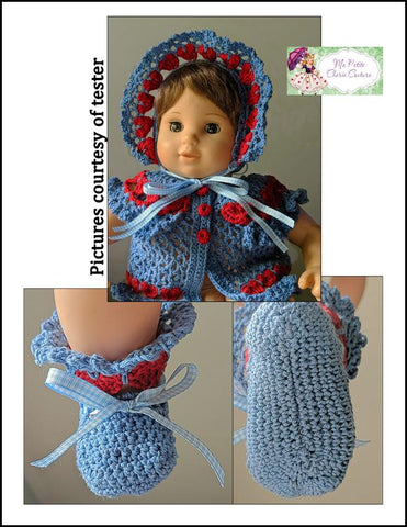 "Crowning Love 15"" Doll Clothes Crochet Pattern"