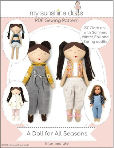 "A Doll For All Seasons 23"" Cloth Doll Pattern"