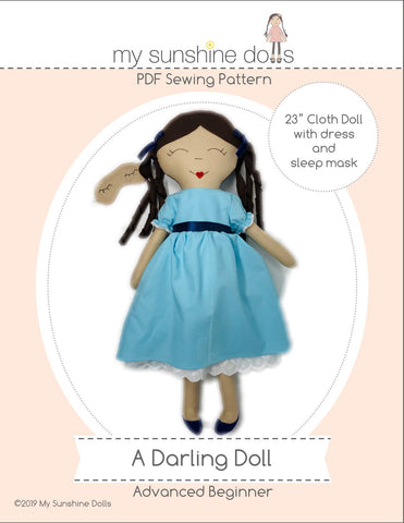 "A Darling Doll 23"" Cloth Doll Pattern"