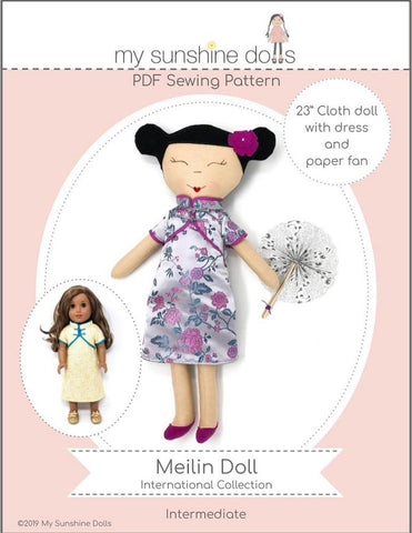 "Meilin Doll 23"" Cloth Doll Pattern"