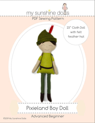 "Pixieland Boy 23"" Cloth Doll Pattern"
