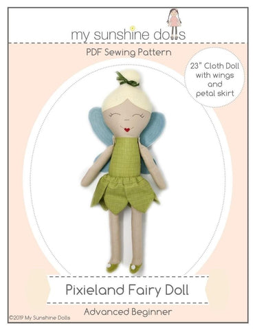 "Pixieland Fairy 23"" Cloth Doll Pattern"