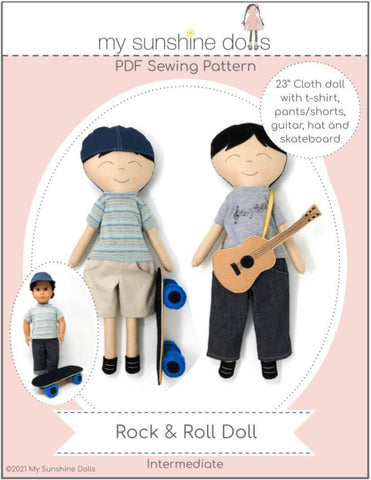 "Rock & Roll Doll 23"" Cloth Doll Pattern"