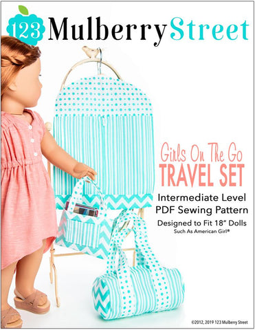 "123 Mulberry Street 18 Inch Modern Girls On The Go 18"" Doll Accessory Pattern Pixie Faire"