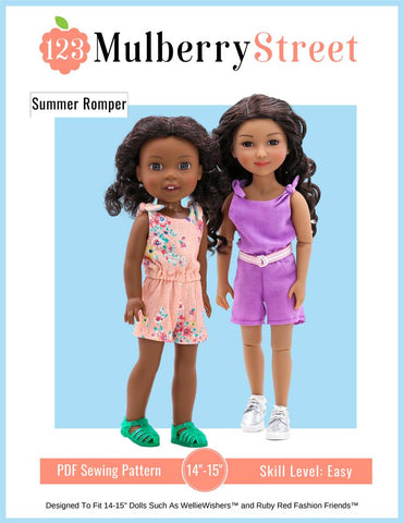 "Summer Romper 14.5""-15"" Doll Clothes Pattern"