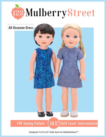 "All Occasion Dress 14.5"" Doll Clothes Pattern"