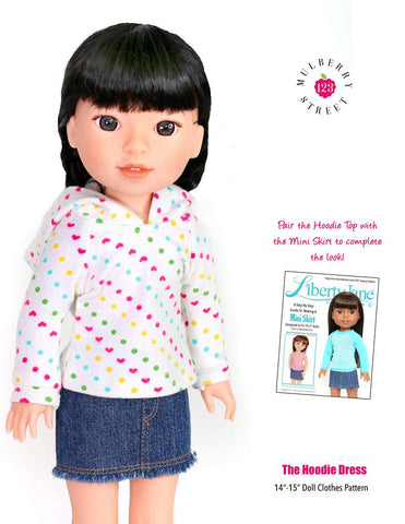 "Hoodie Dress 14-15"" Doll Clothes Pattern"