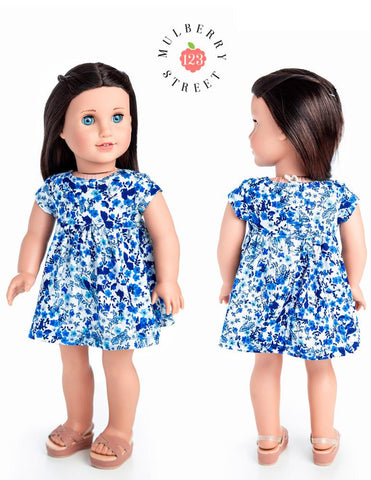 "Babydoll Dress 18"" Doll Clothes Pattern"
