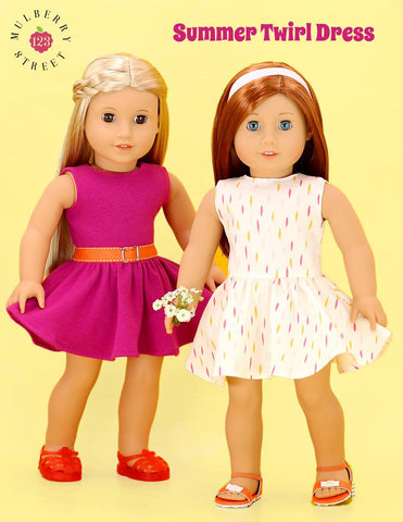 "Summer Twirl Dress 18"" Doll Clothes Pattern"