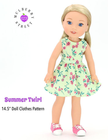 "Summer Twirl Dress 14.5"" Doll Clothes Pattern"