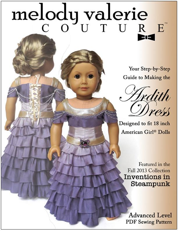 Ardith Dress 18 inch Doll Clothes Pattern PDF Download ...