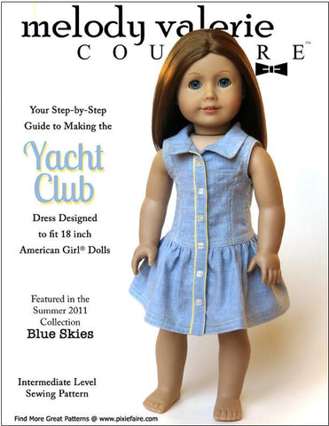 "Yacht Club Dress 18"" Doll Clothes"