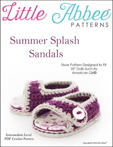 Summer Splash Sandals Crochet Pattern