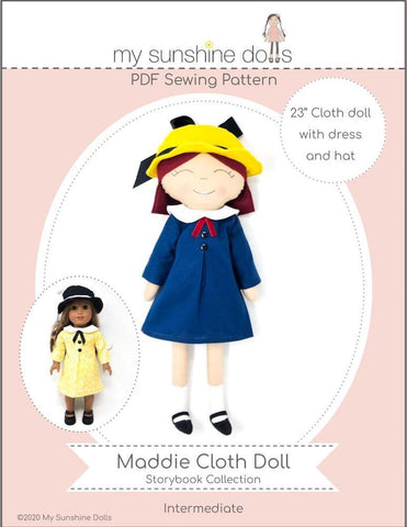"Maddie Doll 23"" Cloth Doll Pattern"