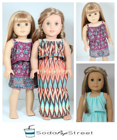 "Maisy Dress 18"" Doll Clothes Pattern"