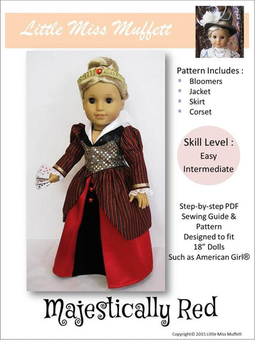 "Majestically Red 18"" Doll Clothes"