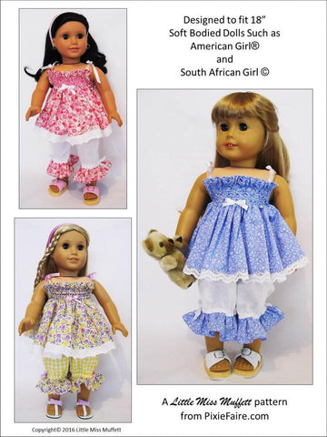 "Mamma's Girl 18"" Doll Clothes Pattern"