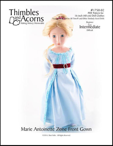Marie Antoinette Zone Front Gown for AGAT Dolls