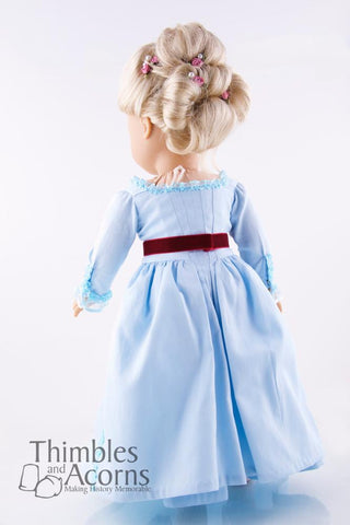 "Marie Antoinette Zone Front Gown 18"" Doll Clothes"