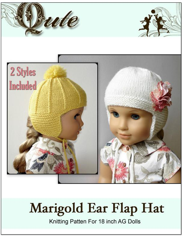 Marigold Ear Flap Hat Knitting Pattern PDF Download | Pixie Faire