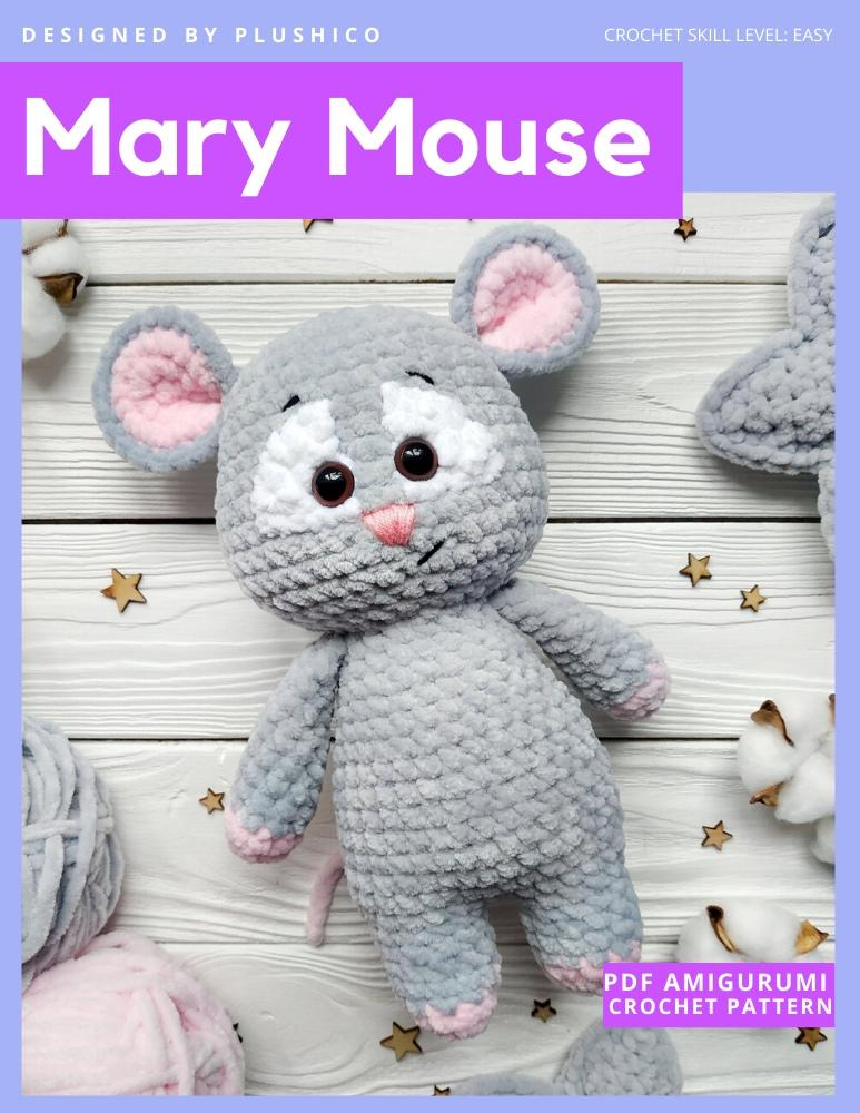 Baby Knitting Patterns Crochet Tiny Pink Forest Mouse Amigurumi ... | 1000x773