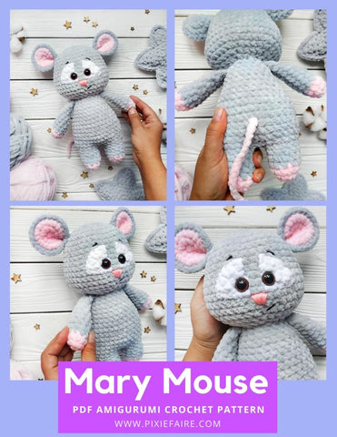 Mary Mouse Amigurumi Crochet Pattern