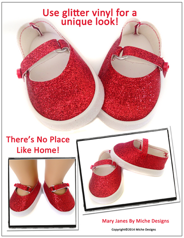 "Mary Janes 18"" Doll Shoes"