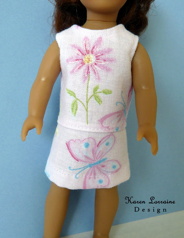 "Meadow Dress for 6"" Mini Dolls"