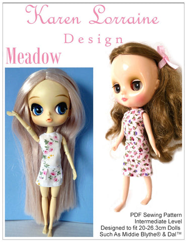 Meadow Dress for Middie Blythe and Pullip Dal Dolls