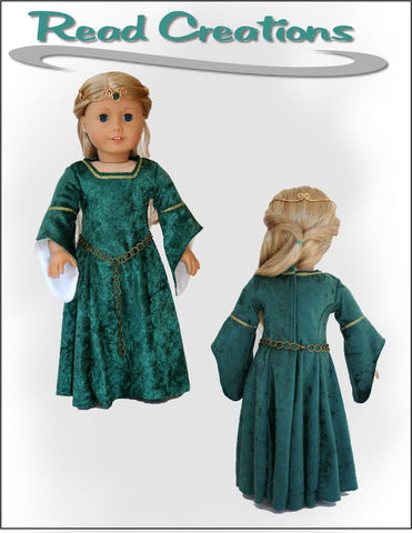"Medieval Dress 18"" Doll Clothes Pattern"