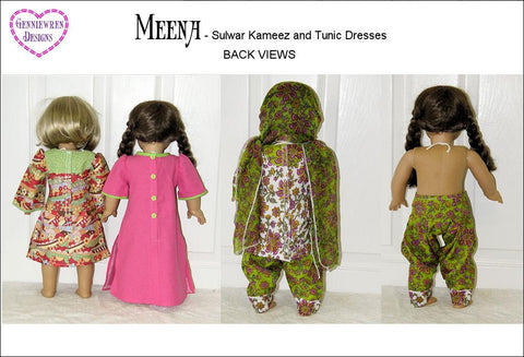 "Meena - Sulwar Kameez and Tunic Dress 18"" Doll Clothes"