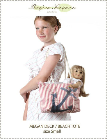 Megan Deck Beach Tote Pattern For Girls