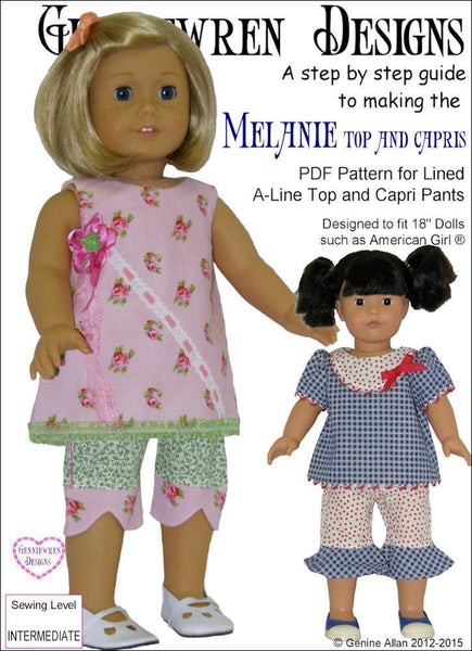 Genniewren Designs Melanie Top And Capri Pants Doll