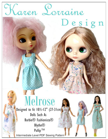 "Melrose Dress for 10""-12"" Fashion Dolls, Blythe, and Pullip"
